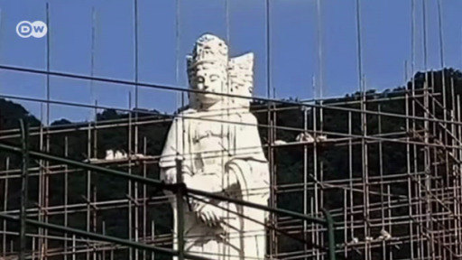 The demolition of Buddhist statues has come to symbolize Beijing's crackdown on religious freedom.