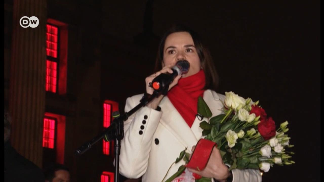 Тихановская в Берлине - встреча с белорусской диаспорой
