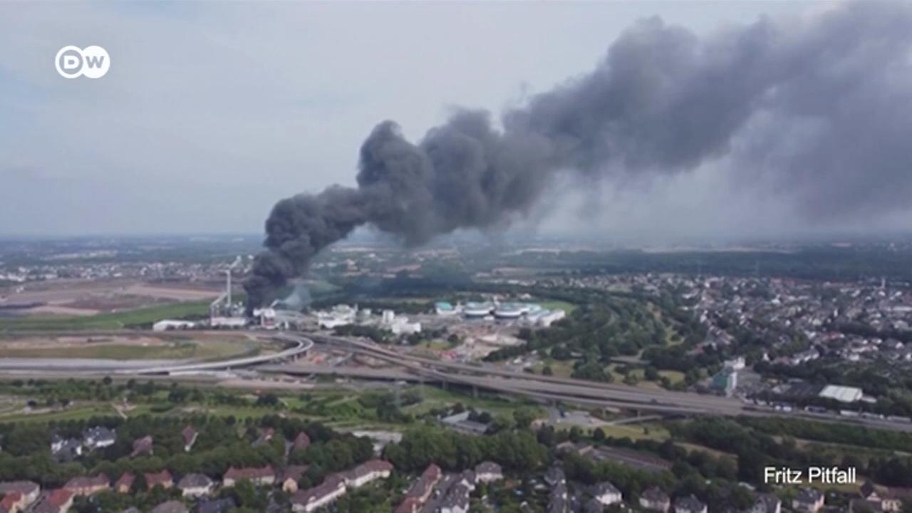 Мощный взрыв в Леверкузене