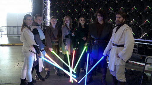 The Force seems to be especially strong in Russia, where Star Wars fans hone their lightsaber skills.